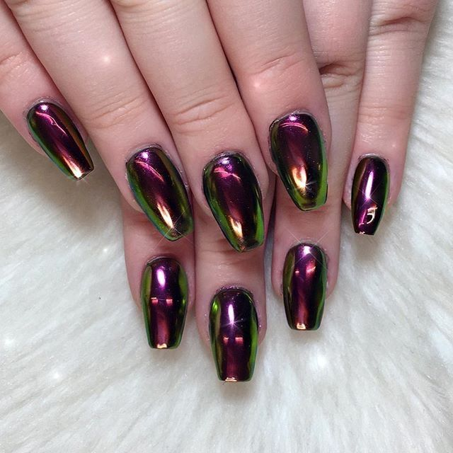 40 best metallic nail designs for 2018 - nail art ideas