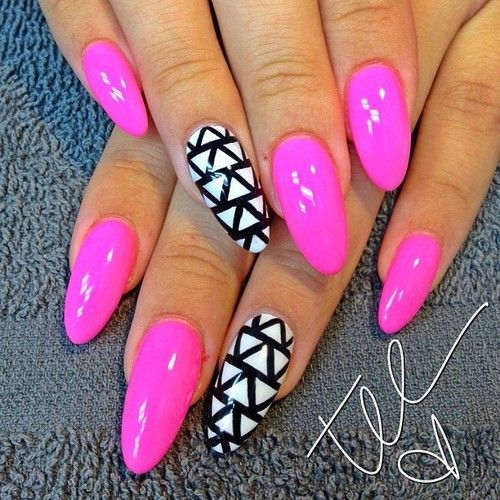Simple printing of pointed nails
