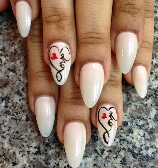 Letters pointy nails