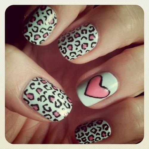 Leopard and heart shape