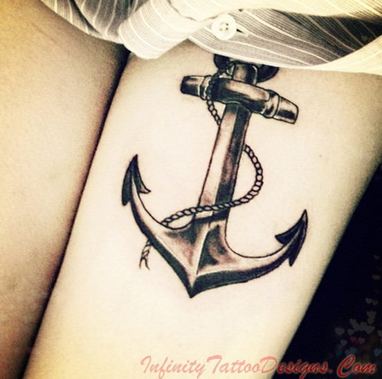 Female anchor tattoos