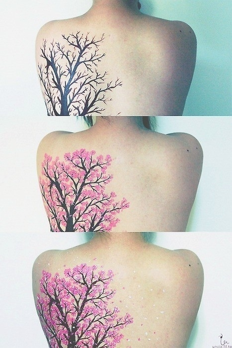 Pretty plant tattoo idea