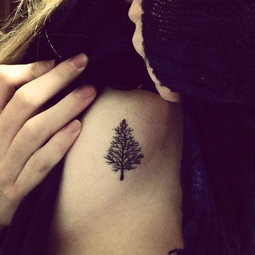 Nice Pinetree tattoo