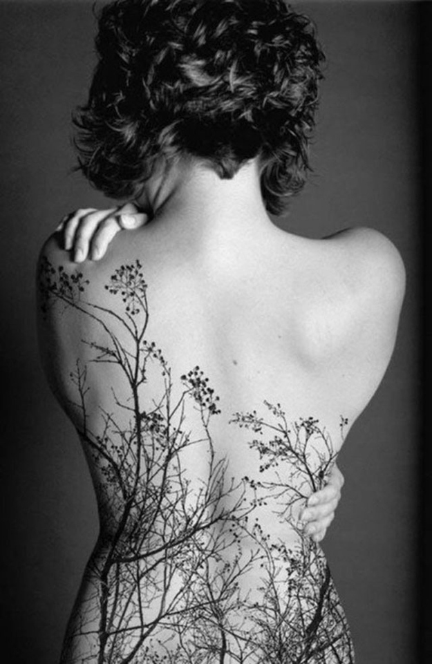 Breathtaking tattoo idea with trees