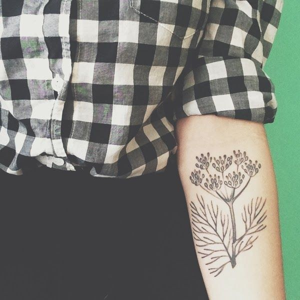 Beautiful plant tattoo for women