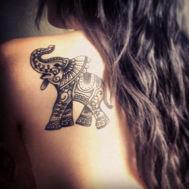 Fantastic elephant tattoo