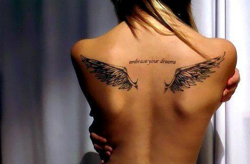 Angel Tattoos Designs: Angel Wings tattoo on the back
