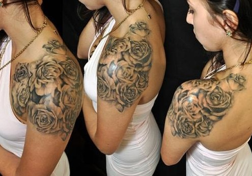 Beautiful rose tattoo ideas on the shoulder
