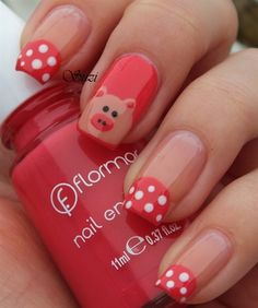 Pig nails for French manicure