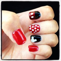 Beautiful Mickey Mouse nails