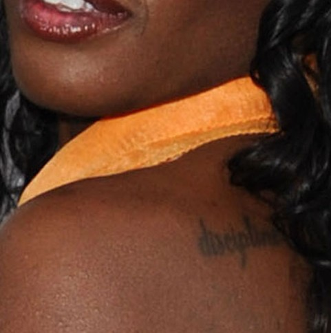 Azealia Banks Tattoos - Back