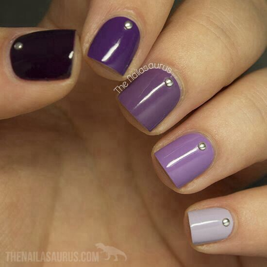 Ombre colored nails