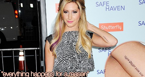 Ashley Tisdale's tattoos on her arms