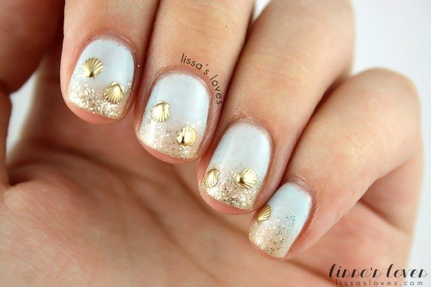 Gold colored nails