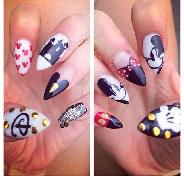 Disney pointed nails