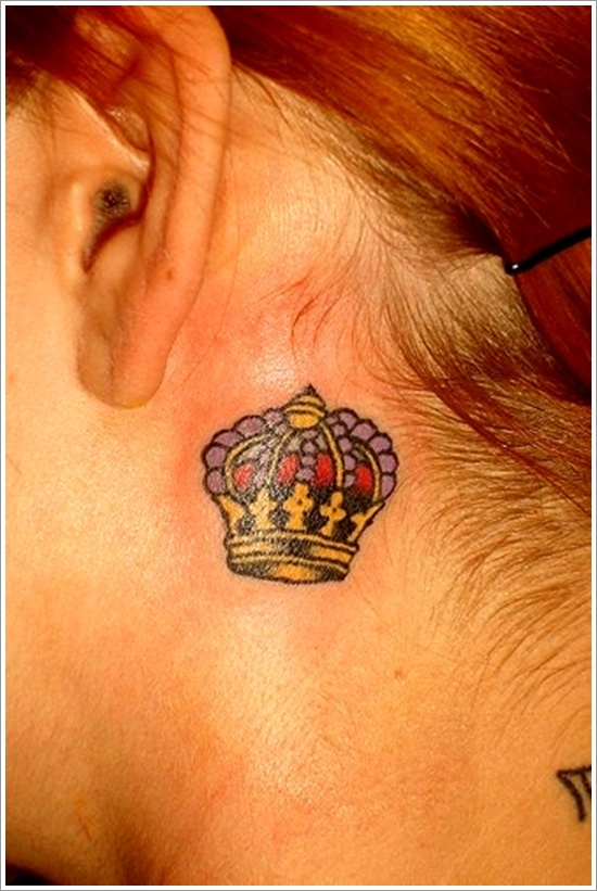 Nice little crown tattoo for women