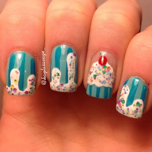 Beautiful cupcake nails