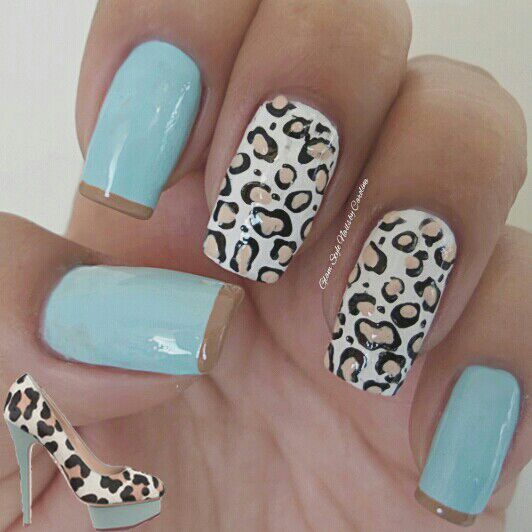 Heels Inspired Nail Art Design