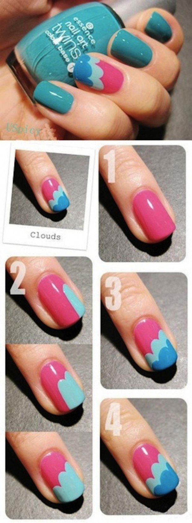 The cloud nail art