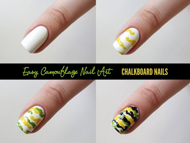 Simple camouflage nail art