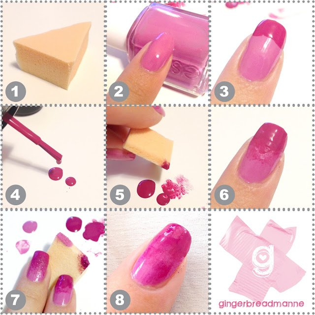 Shades of Pink Nail Art