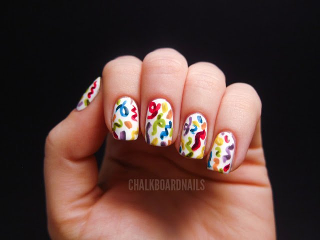 Nice nail design for birthday