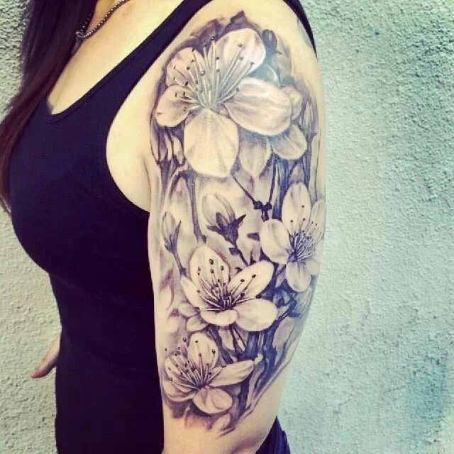 Beautiful half arm tattoo
