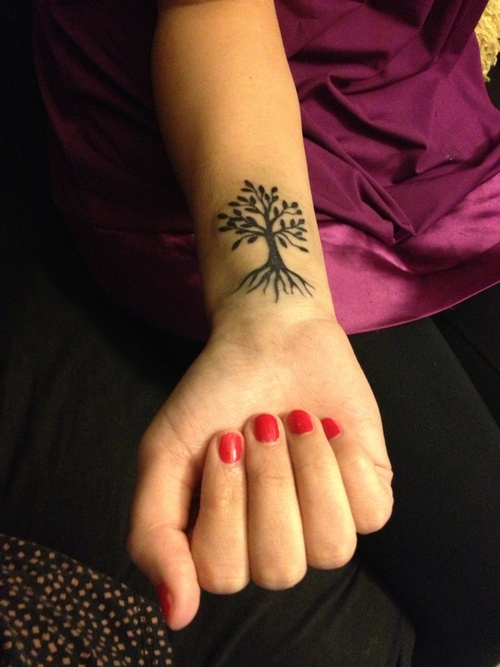 Small tree tattoo for girls
