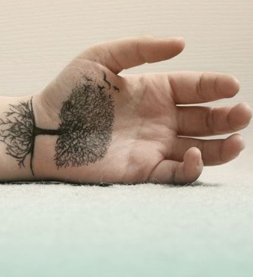 Creative tree tattoo