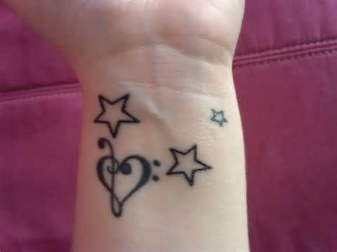 Small tattoo on the wrist
