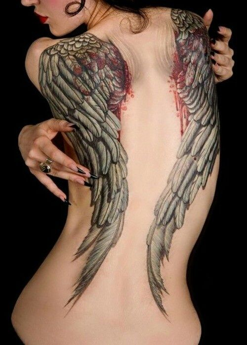 Beautiful angel wings on the back
