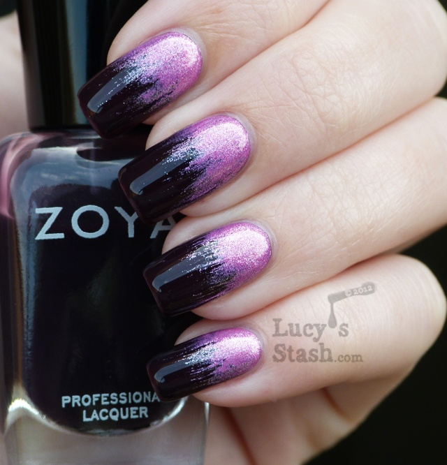 Purple to Dark Nails