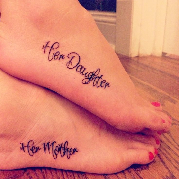 Mother and daughter tattoos / pinterest