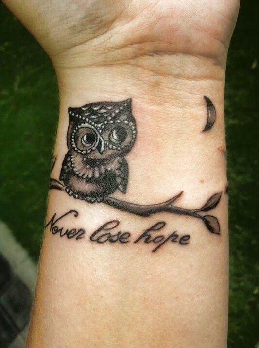 Owl hope tattoo