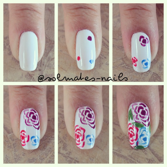 Flowers on your nails. Perfect!