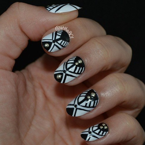 Tribal nail art designs