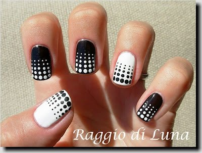 Dotted nail art design