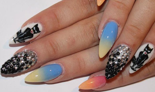 Decorated nails for summer nail designs