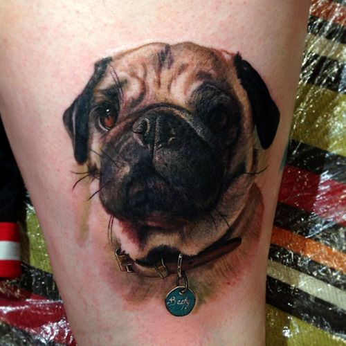 Chic dog tattoo