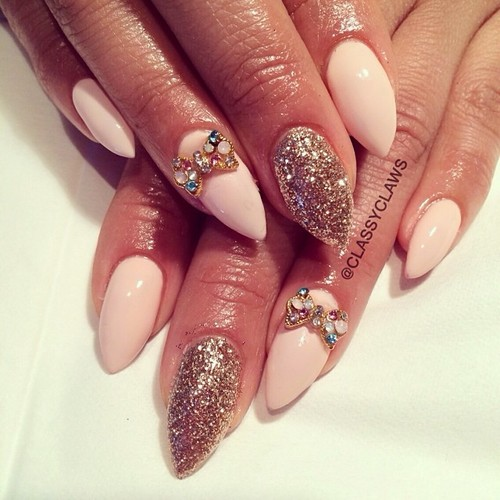 Pink nails for fine nail designs