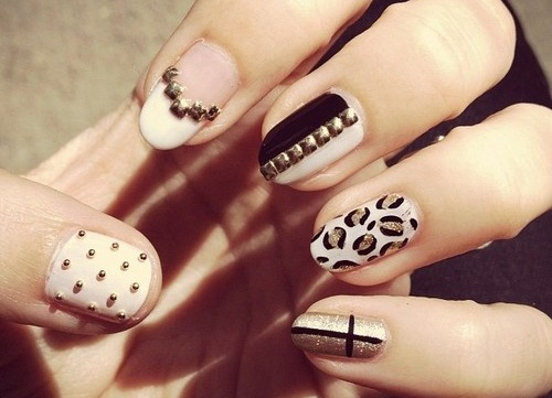 Decorated nails and print