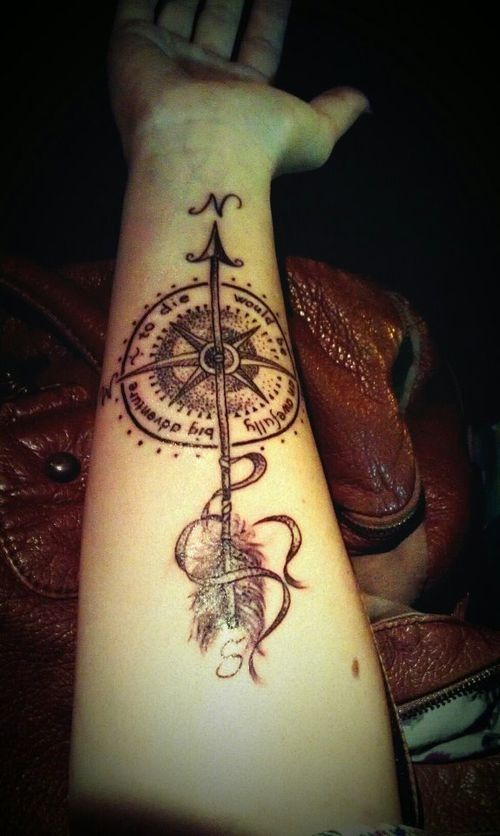 Compass tattoo
