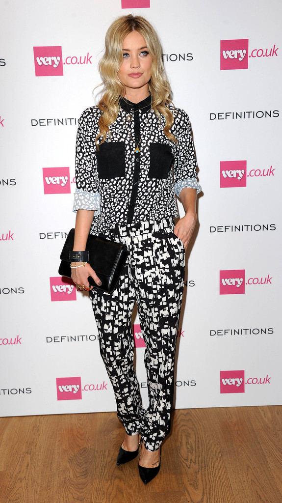 Laura Whitmore's leather clutch