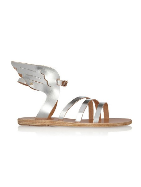 OLD CREEK Ikaria Metallic Leather Wing Sandals