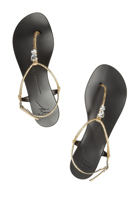 GUISEPPE ZANOTTI crystal coated leather sandals