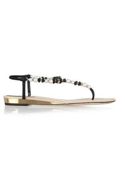 René Caovilla Swarovski suede sandals with crystal embellishment