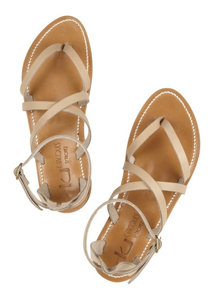 K JACQUES WT TROPEZ Epicure leather multi-strap sandals