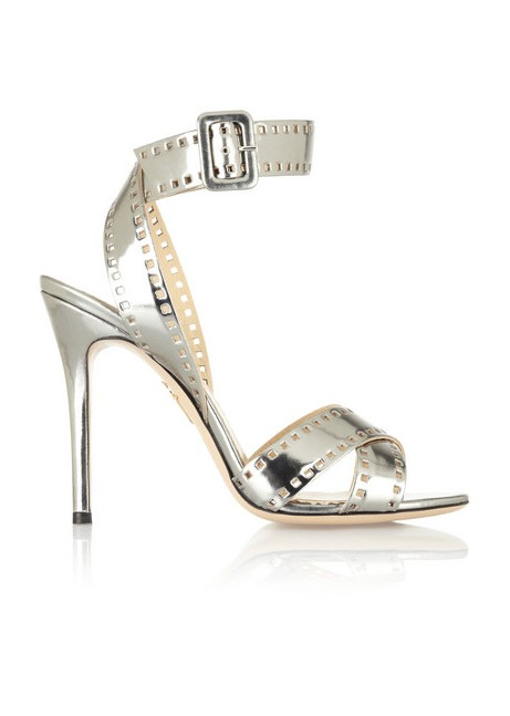 Charlotte Olympia Take 110 metallic leather sandals