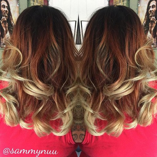 Copper and red curls