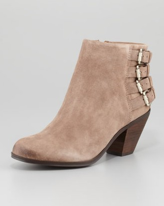 Sam Edelman Lucca suede bootie with buckle, beach